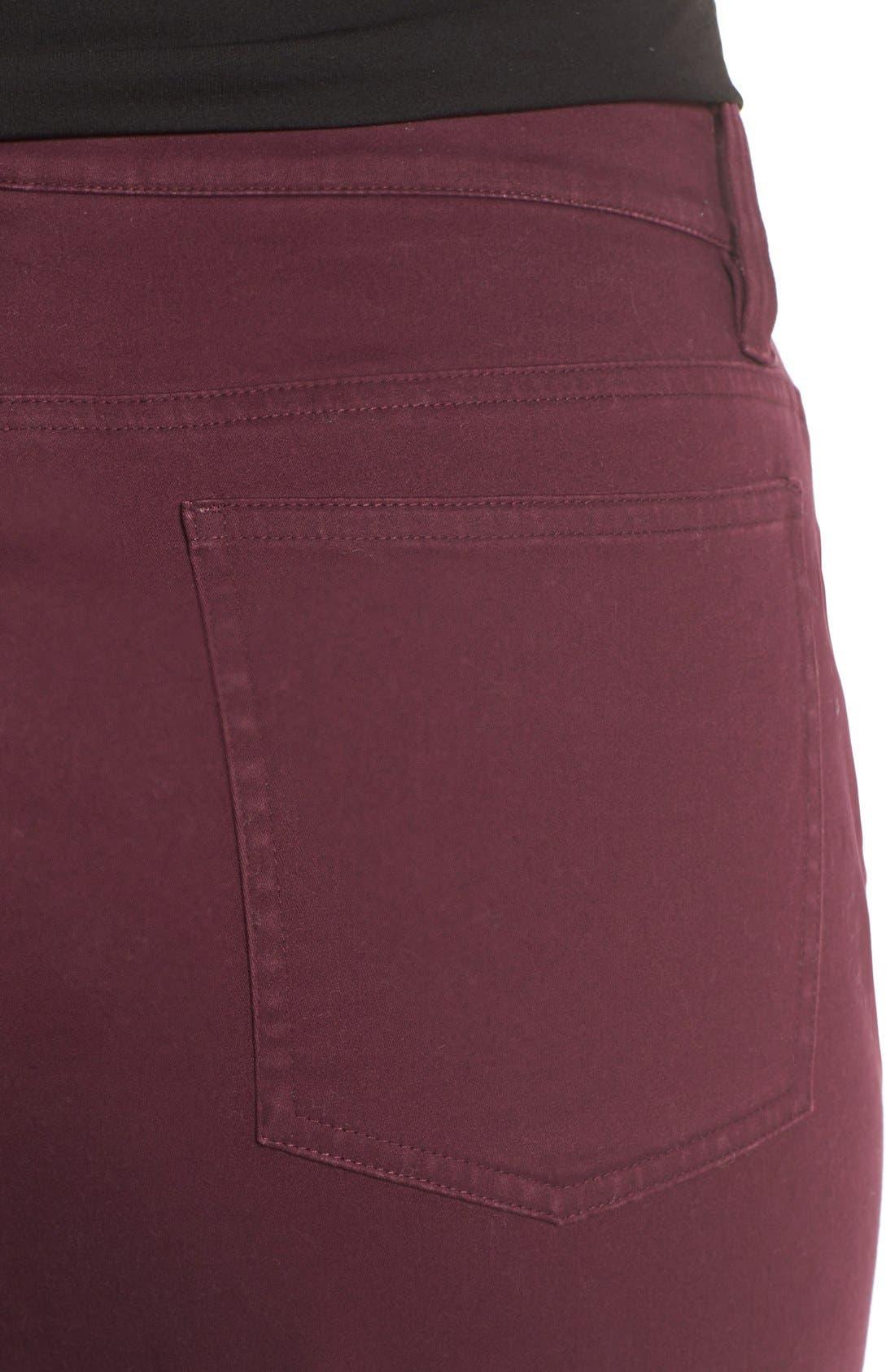Alternate Image 4  - Eileen Fisher Organic Cotton Sateen Skinny Jeans