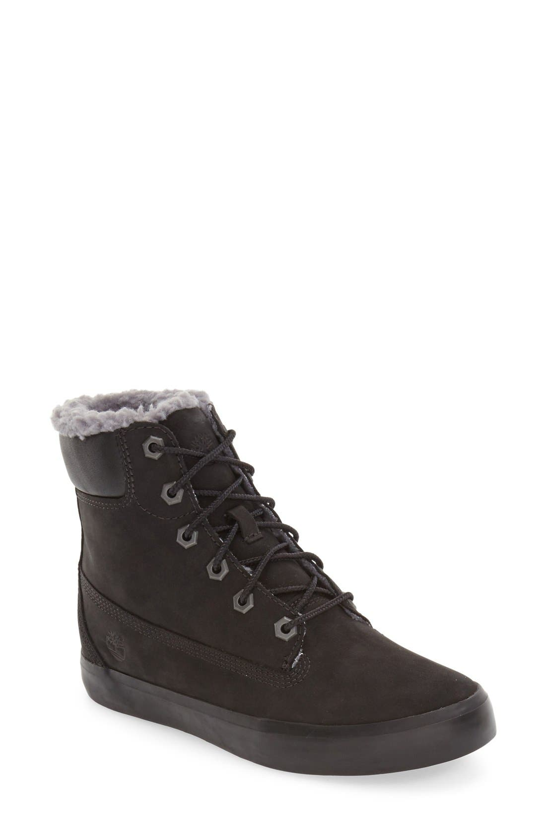 Timberland Flannery Hidden Wedge Boot with Faux Fur Lining (Women)