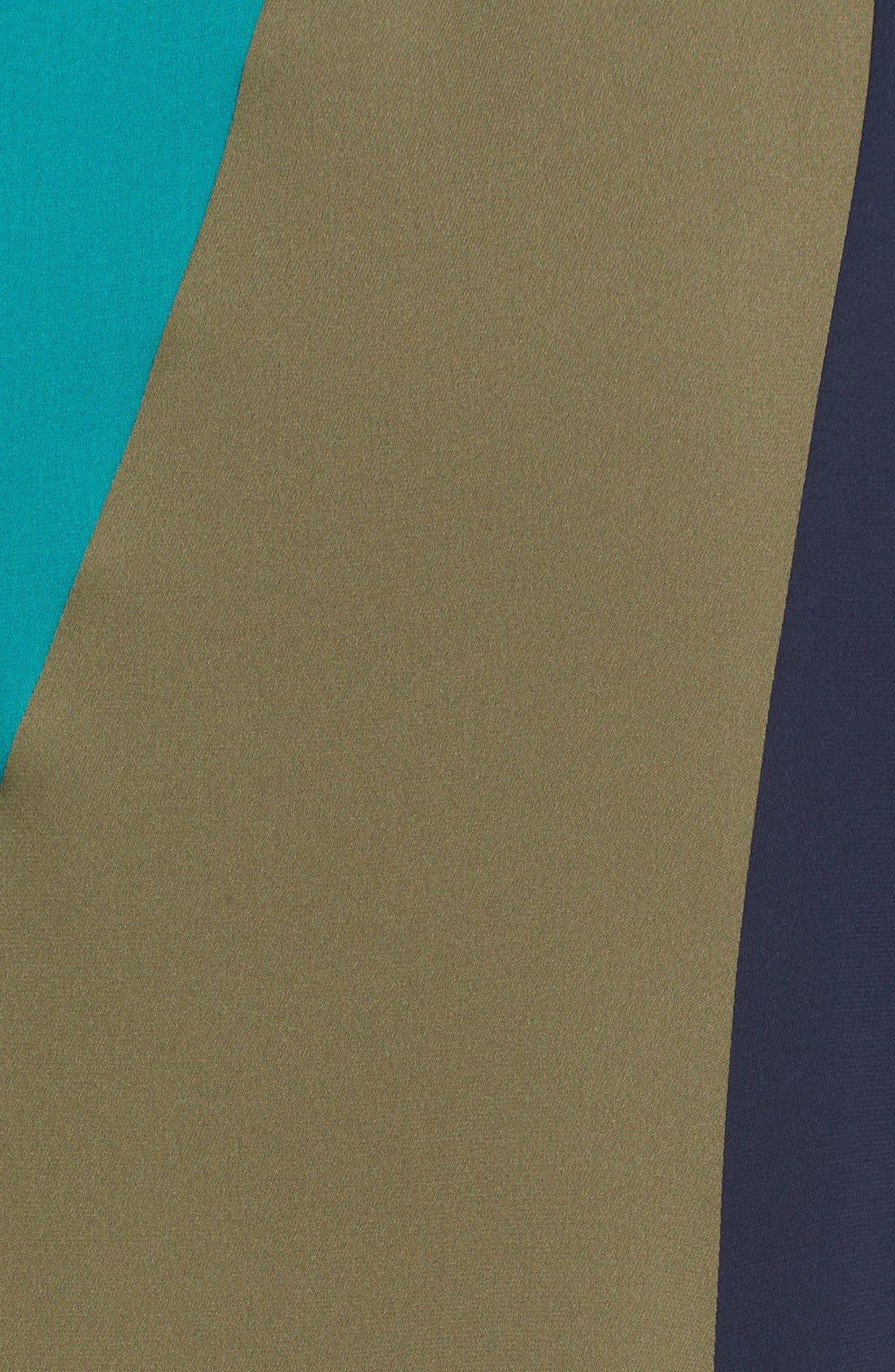 Alternate Image 5  - Diane von Furstenberg Penelope Colorblock Wrap Fit & Flare Dress