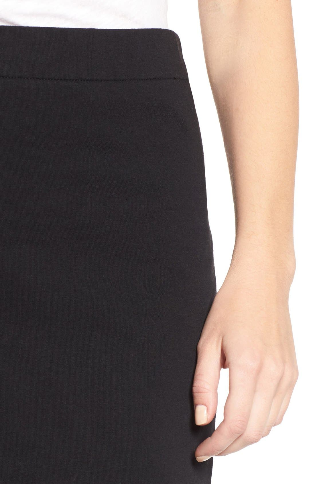 Alternate Image 4  - James Perse Stretch Fleece Pencil Skirt