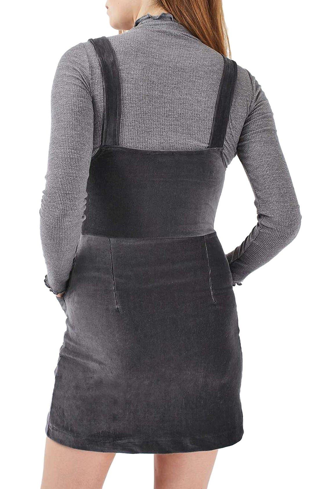 Alternate Image 3  - Topshop Corduroy Velvet Pinafore Dress