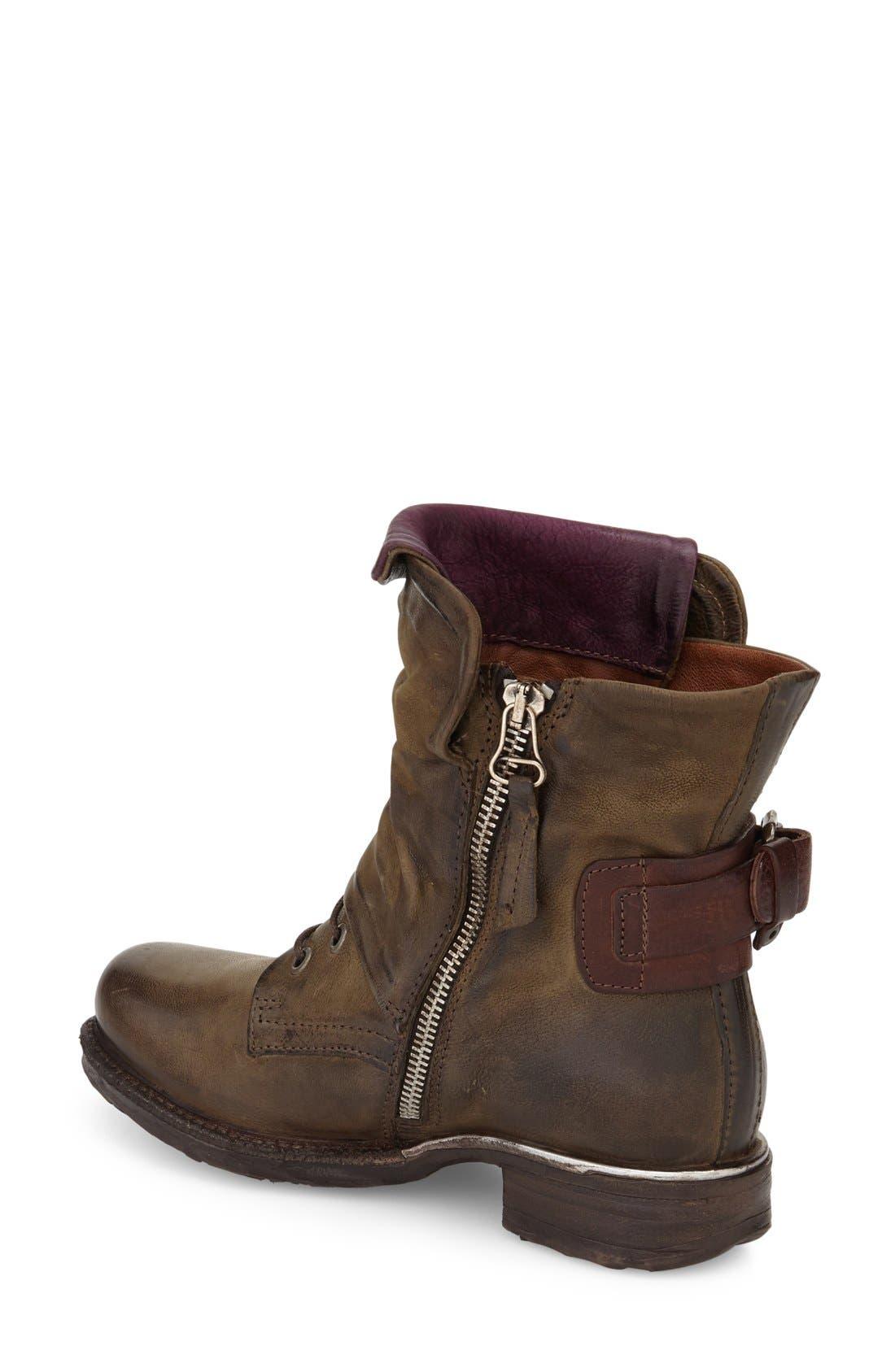 Alternate Image 2  - A.S.98 Simon Slouchy Combat Boot (Women)