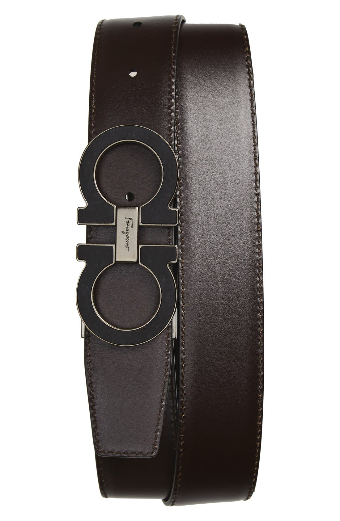 Alternate Image 2  - Salvatore Ferragamo Reversible Calfskin Belt