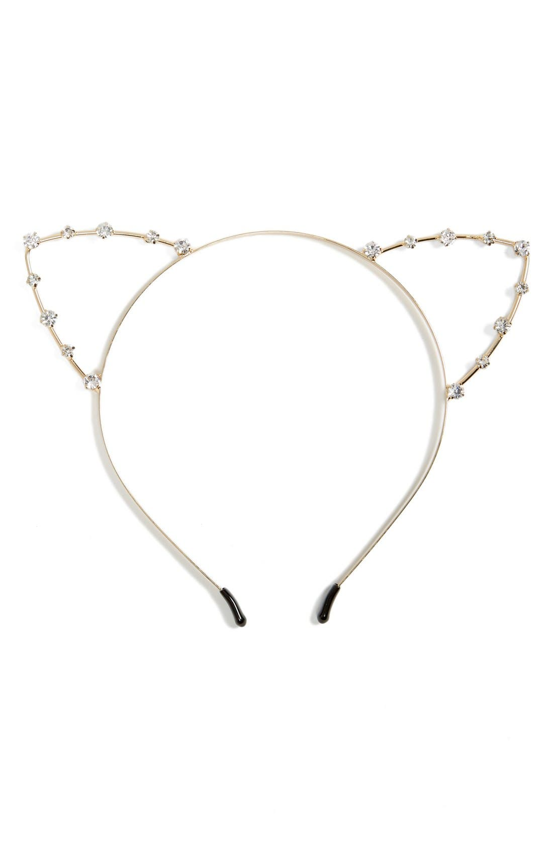 Main Image - Cara Crystal Cat Ears Headband
