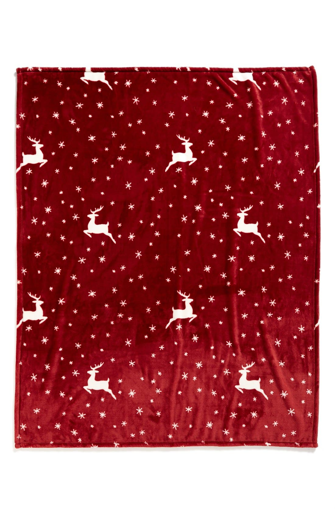 Alternate Image 2  - Nordstrom at Home Print Plush Throw