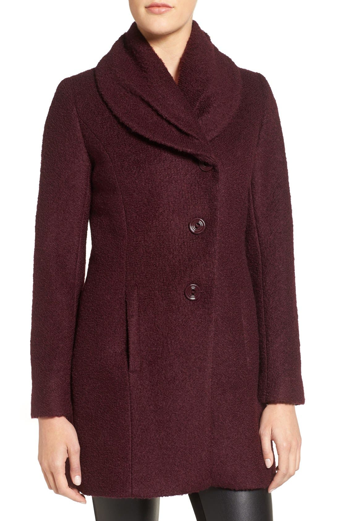 Alternate Image 4  - CeCe Josie Shawl Collar Asymmetrical Bouclé Coat
