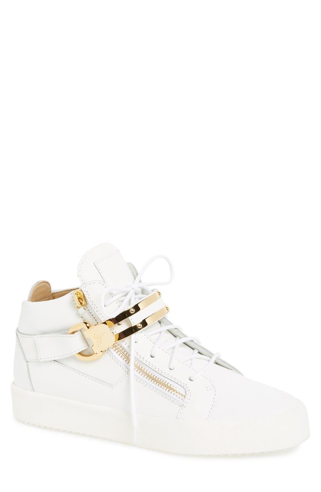 GIUSEPPE ZANOTTI Side Zip High Top Sneaker