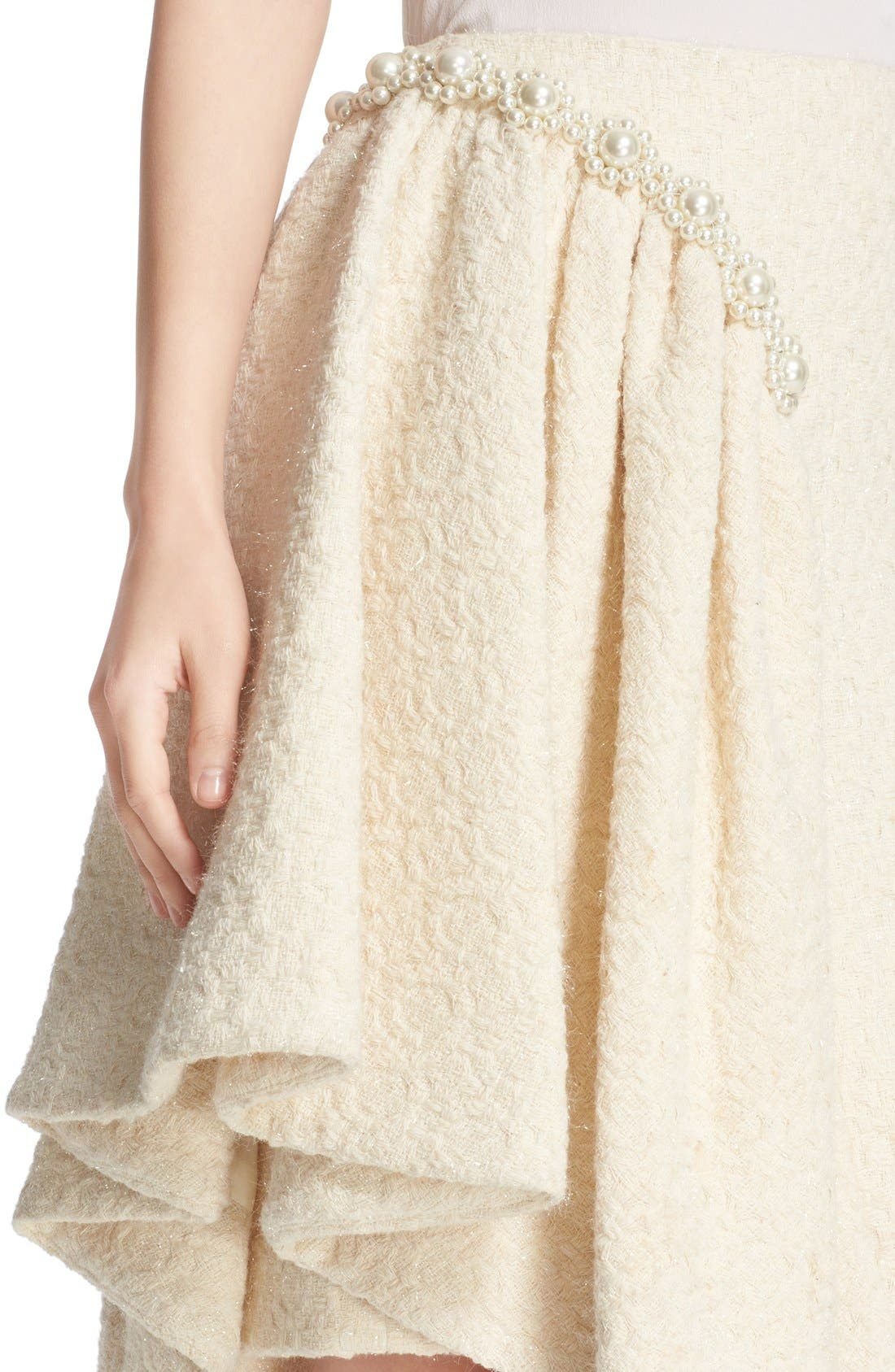 Alternate Image 6  - Simone Rocha Embellished Sparkle Tweed Skirt (Nordstrom Exclusive)