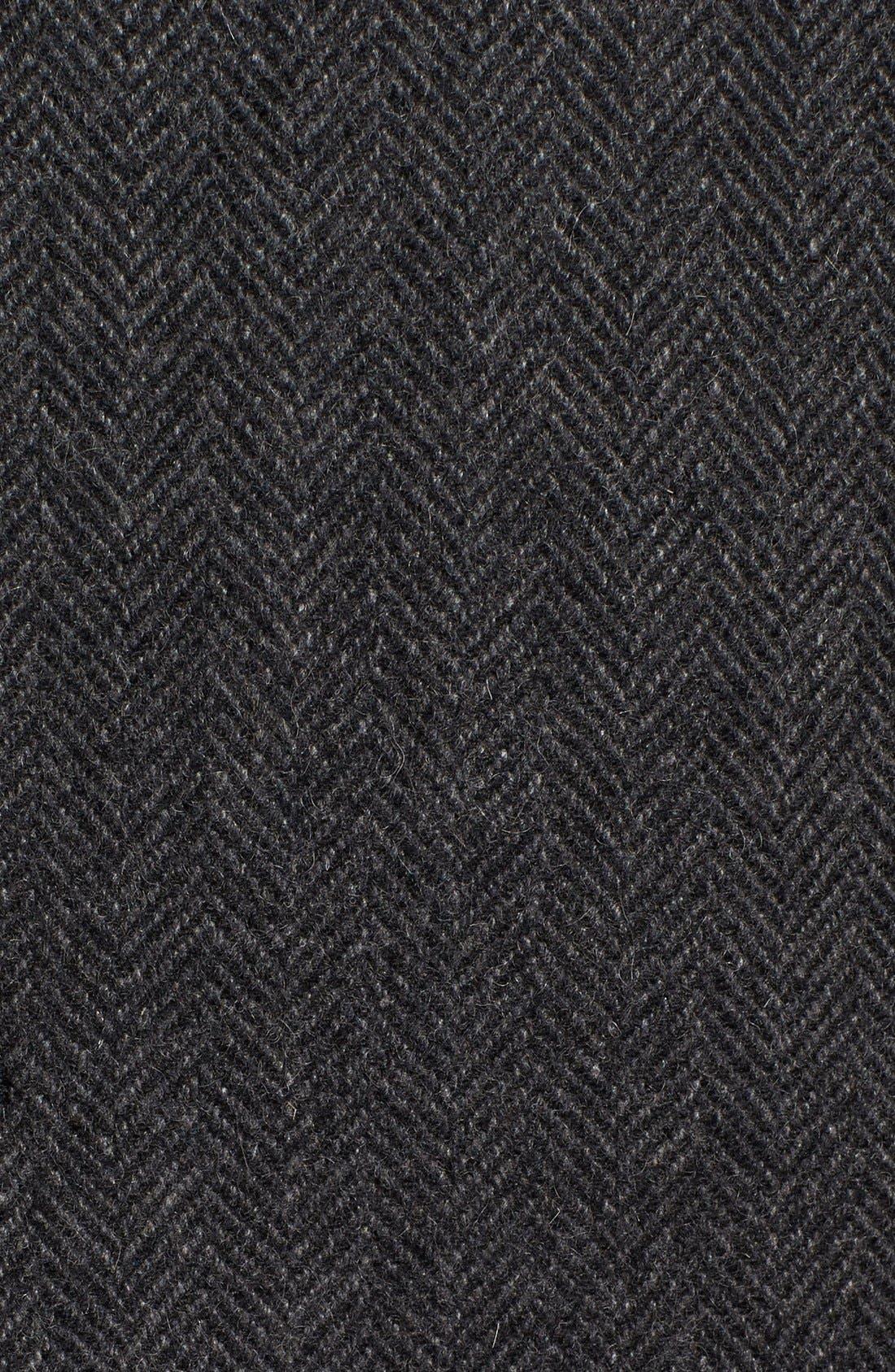 Alternate Image 5  - Pendleton Manhattan Herringbone Wool Blend Reefer Coat
