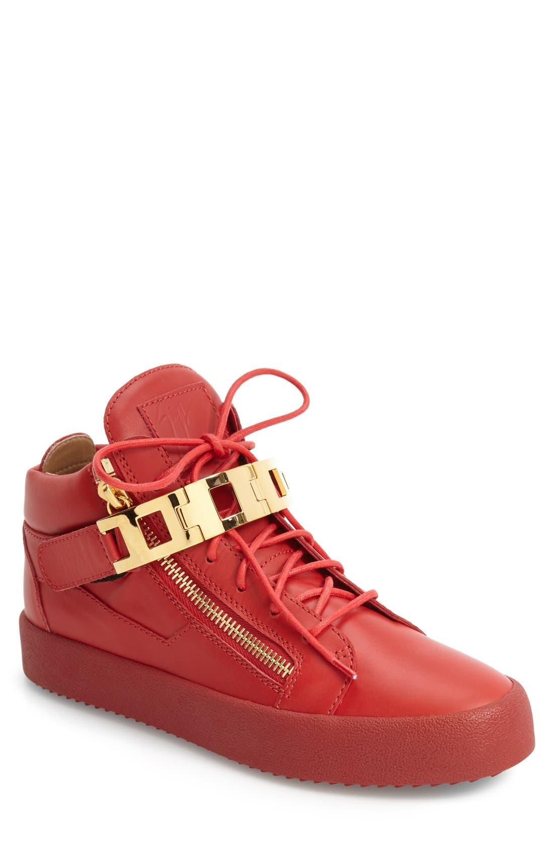 GIUSEPPE ZANOTTI Chain Link Side Zip Sneaker