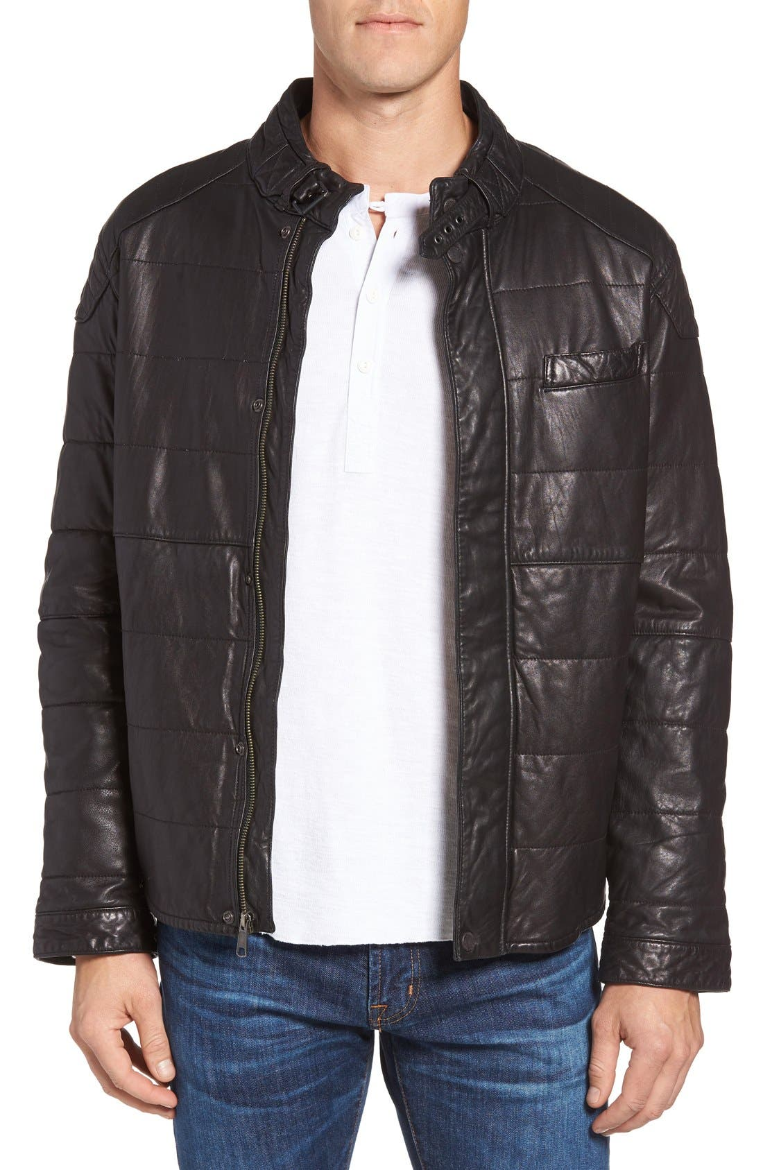 Jeremiah Ace Quilted Leather Jacket