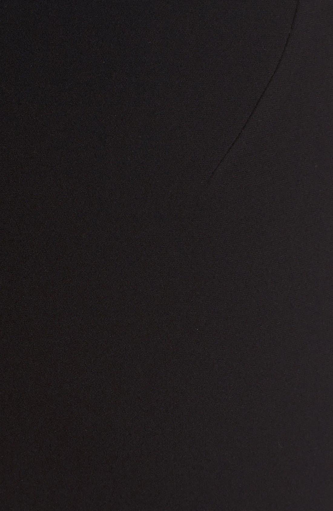 Alternate Image 3  - Victoria Beckham Sheer Inset Crepe Tulle Dress