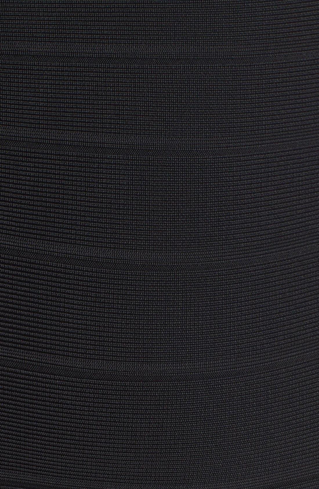 Alternate Image 3  - Herve Leger Illusion Yoke Bandage Gown