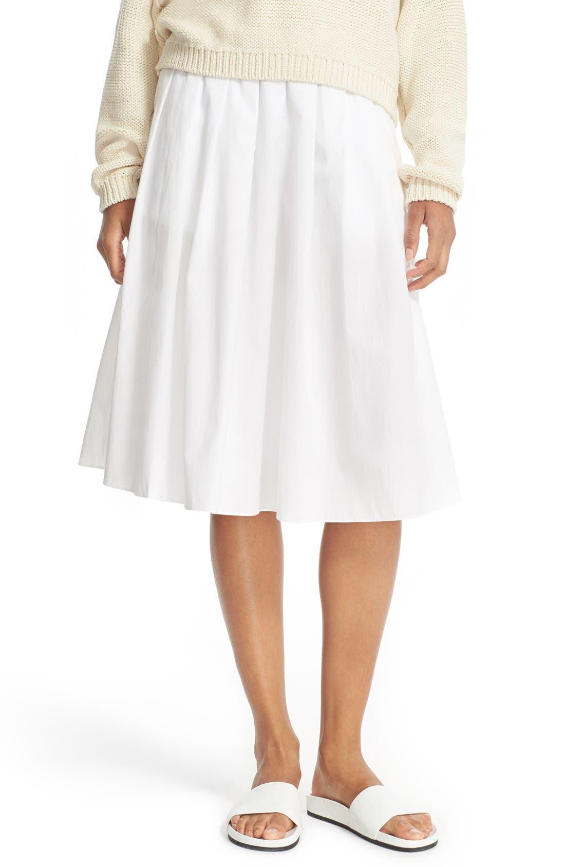 vince multi pleated cotton skirt nordstrom
