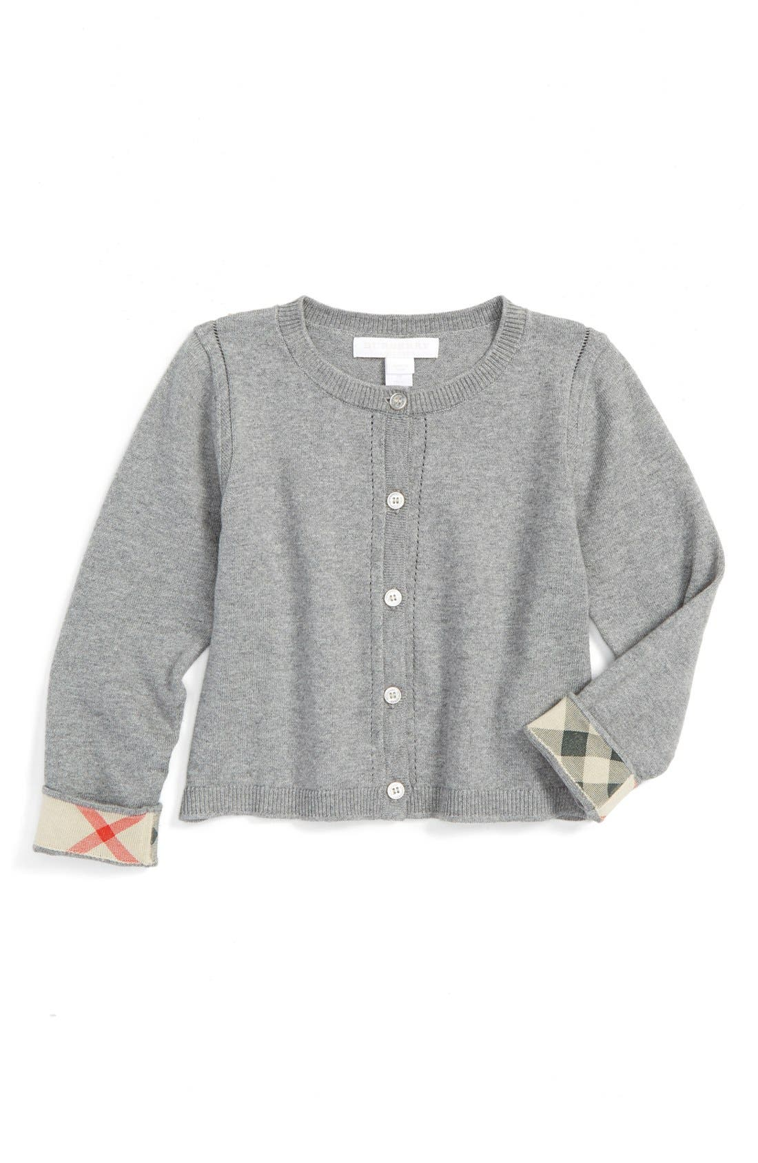 Burberry 'Rheta' Cardigan (Toddler Girls)