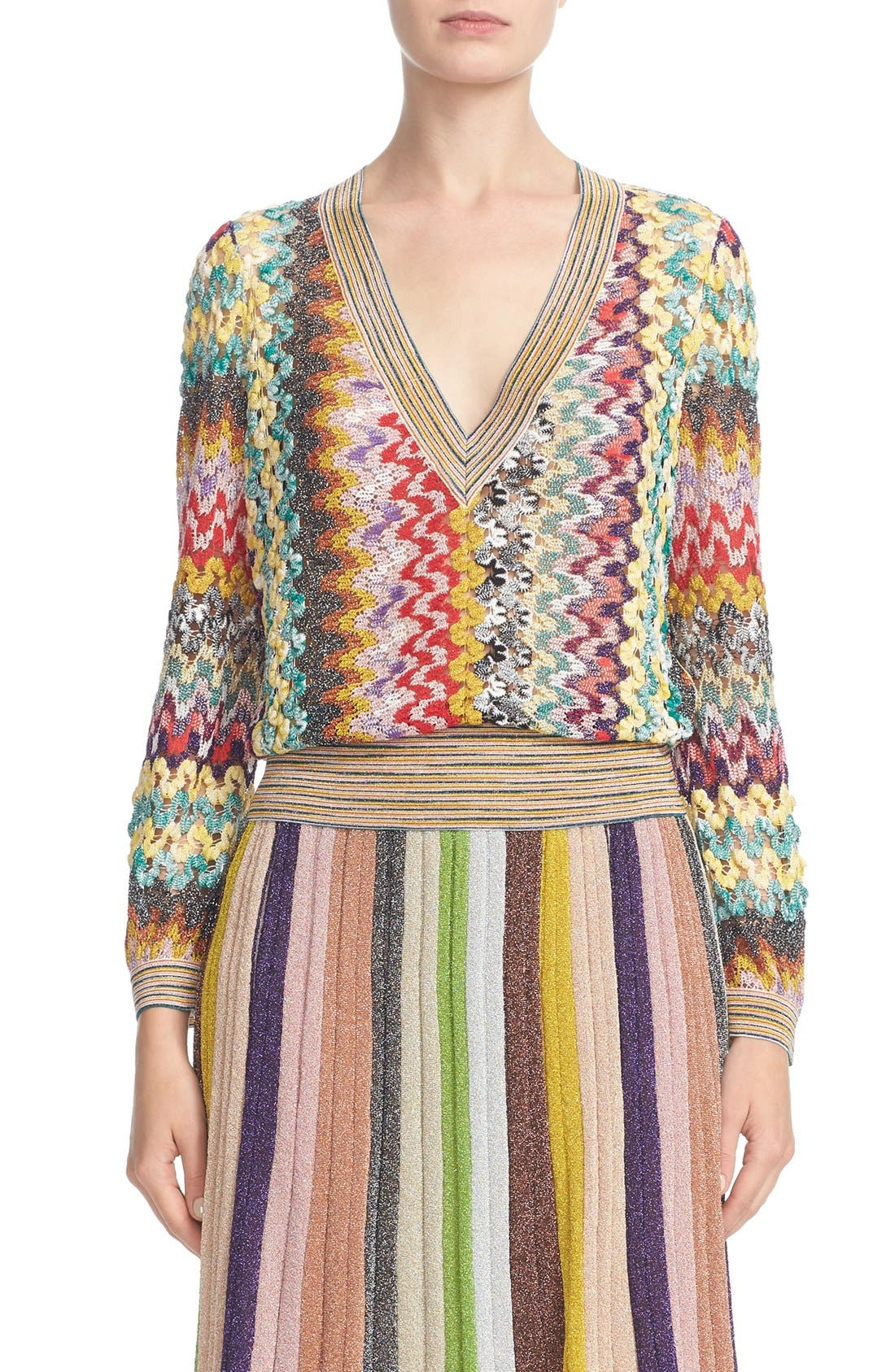 Alternate Image 1 Selected - Missoni Metallic Knit Sweater
