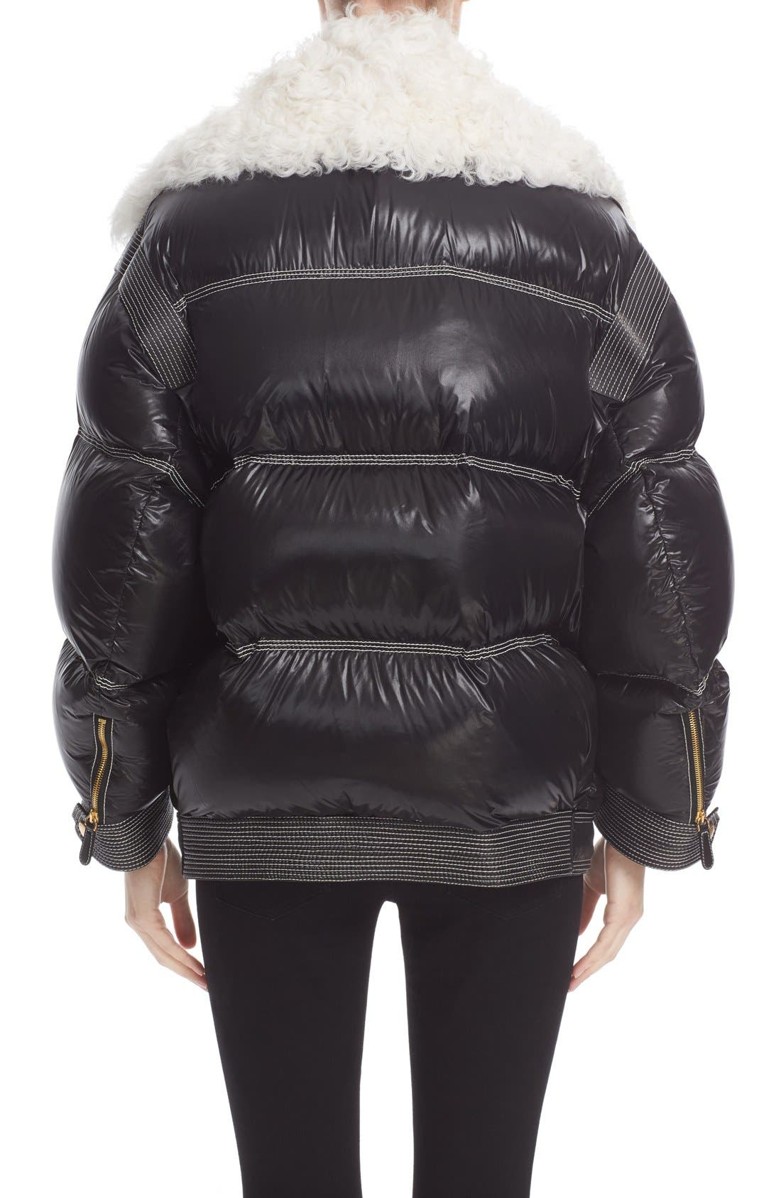 Alternate Image 3  - Burberry Puffer Coat with Removable Genuine Shearling Collar