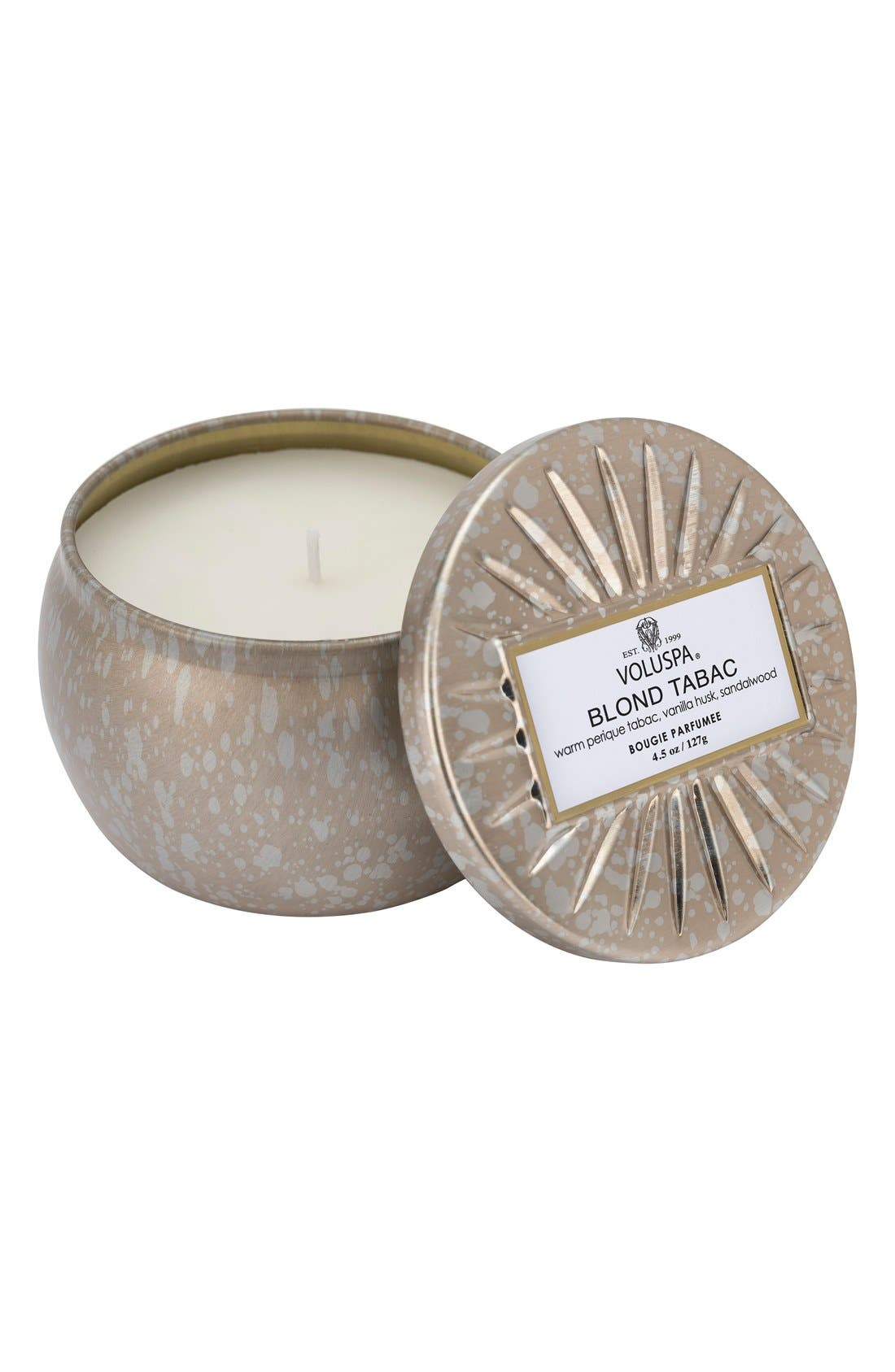 Voluspa Vermeil Blond Tabac Mini Tin Candle