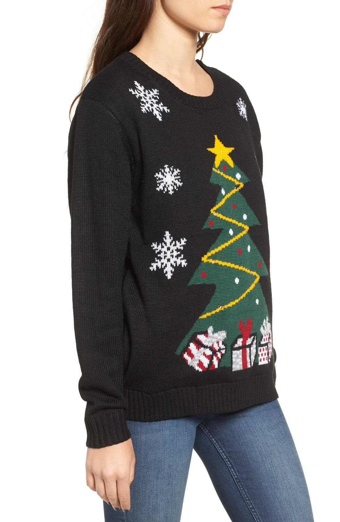Alternate Image 3  - Love by Design Light-Up Tree Christmas Sweater