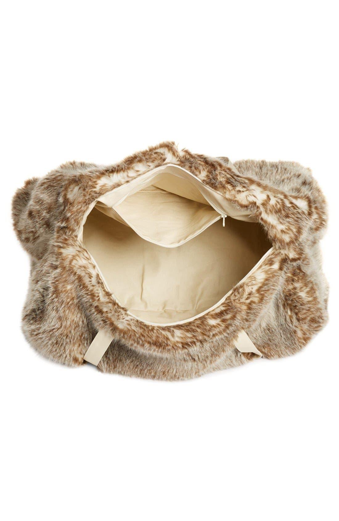 Alternate Image 4  - Nordstrom at Home Cuddle Up Faux Fur Duffel Bag