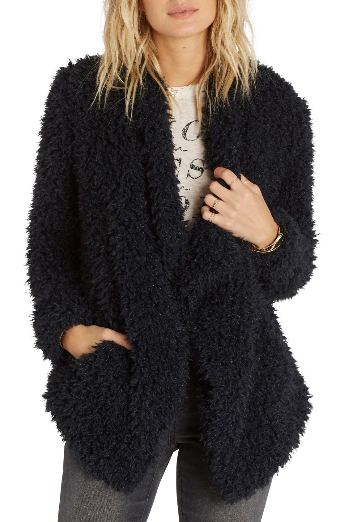 Main Image - Billabong Do It Fur Love Faux Fur Jacket