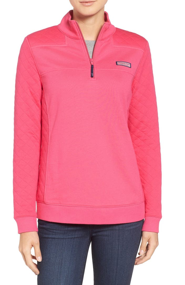 Vineyard Vines Shep Quilted Panel Quarter Zip Pullover