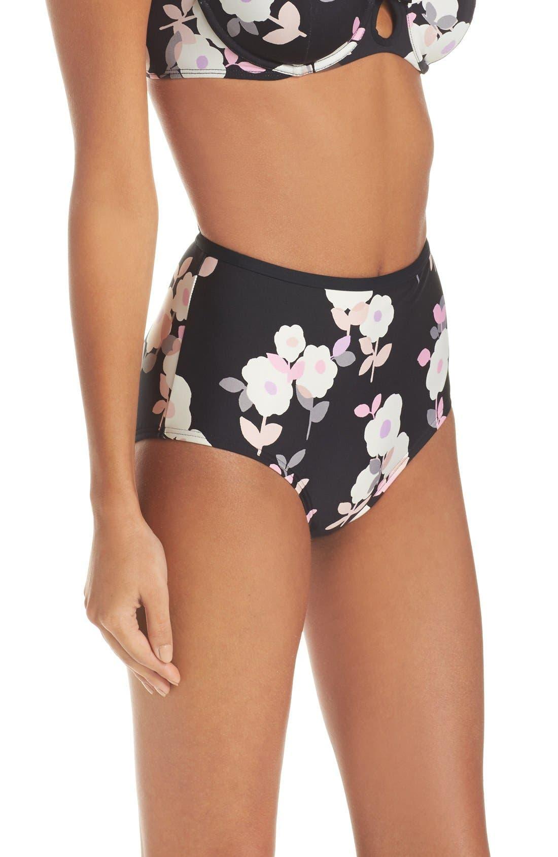 Alternate Image 3  - kate spade new york high waist bikini bottoms