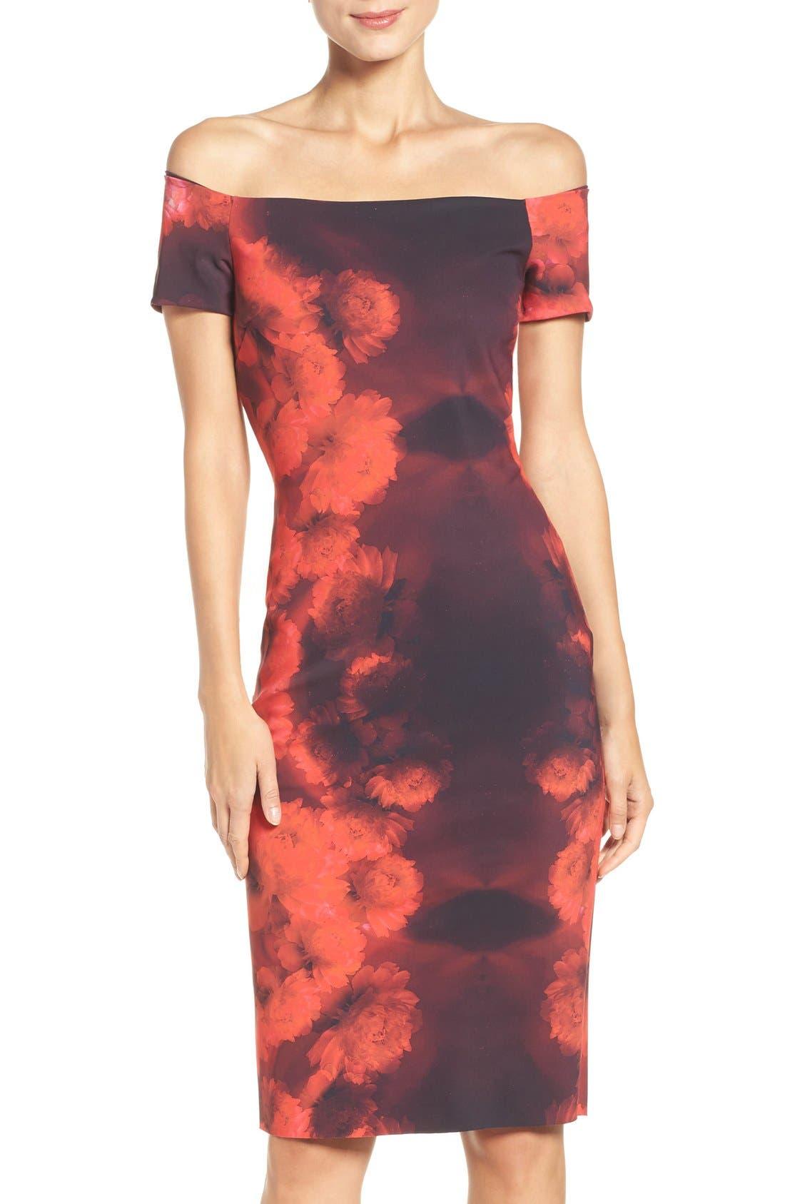 Alternate Image 1 Selected - Chiara Boni La Petite Robe Lyris Print Sheath Dress