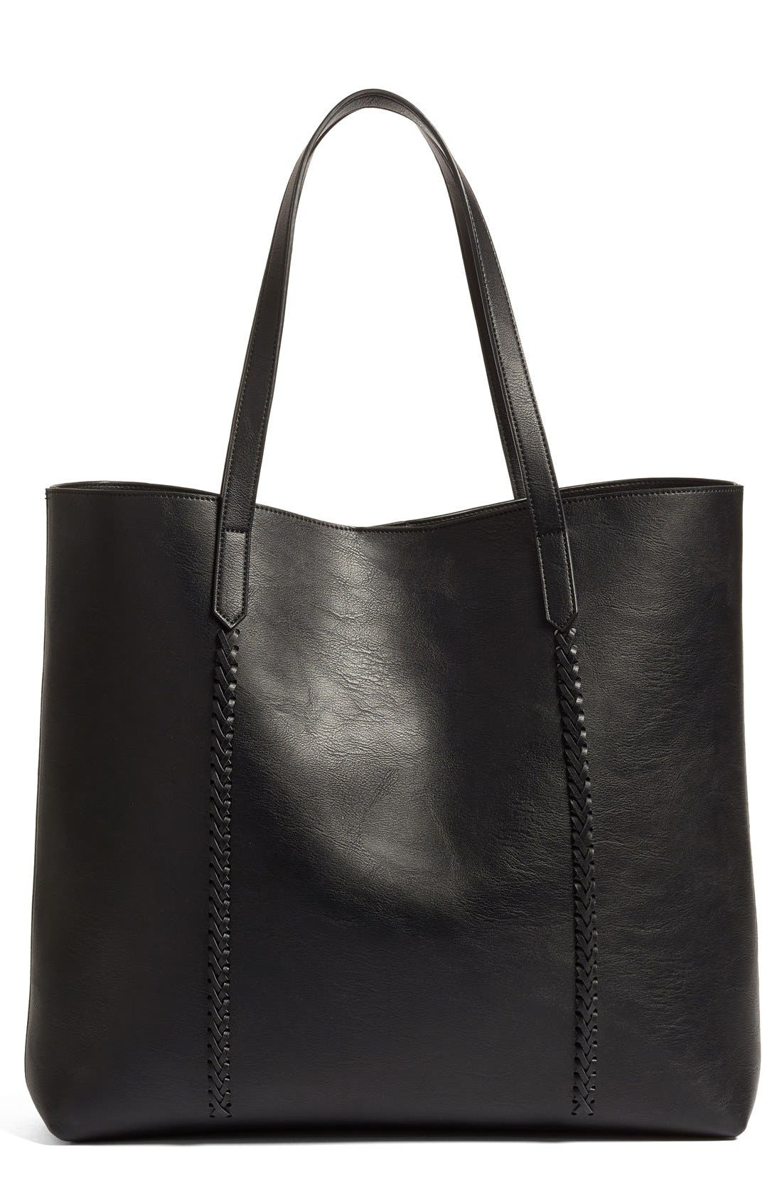 Main Image - Phase 3 Faux Leather Tote