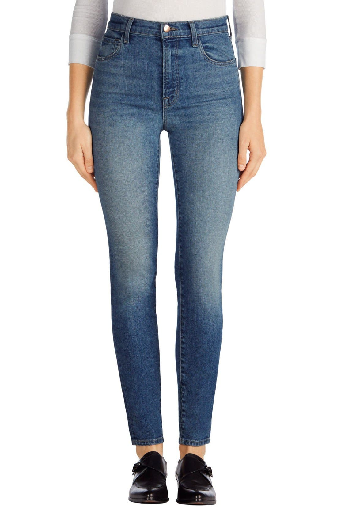 J Brand Carolina Super High Waist Skinny Jeans (Elusive Wash ...