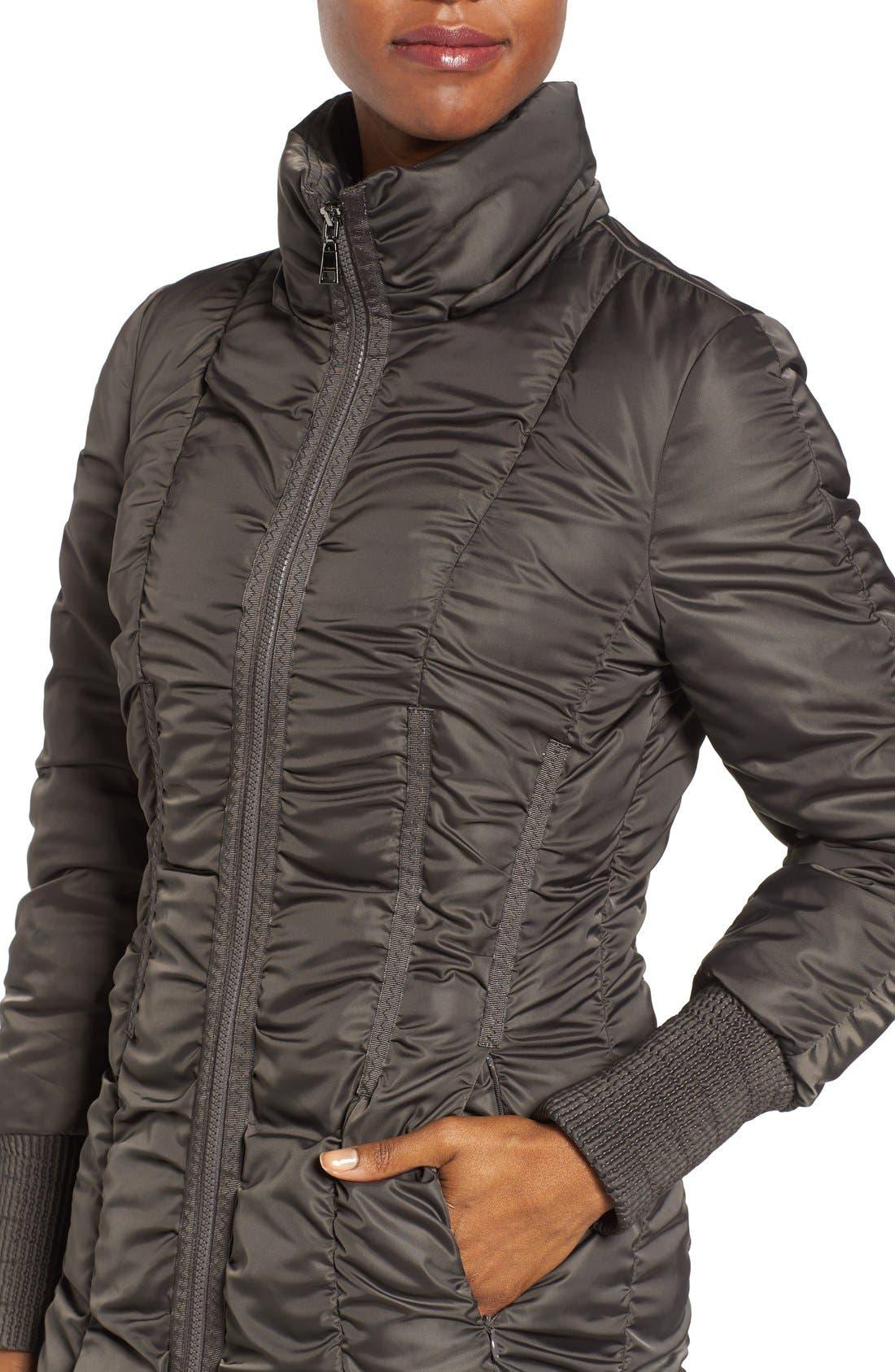 Alternate Image 4  - Tahari Elizabeth Faux Fur Trim Hooded Long Coat