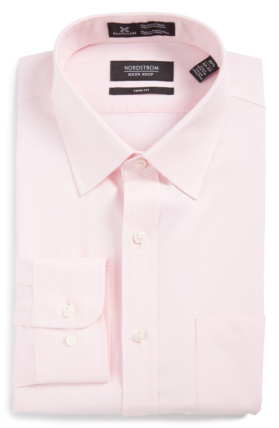 NORDSTROM MEN'S SHOP Smartcare™ Trim Fit Solid Dress