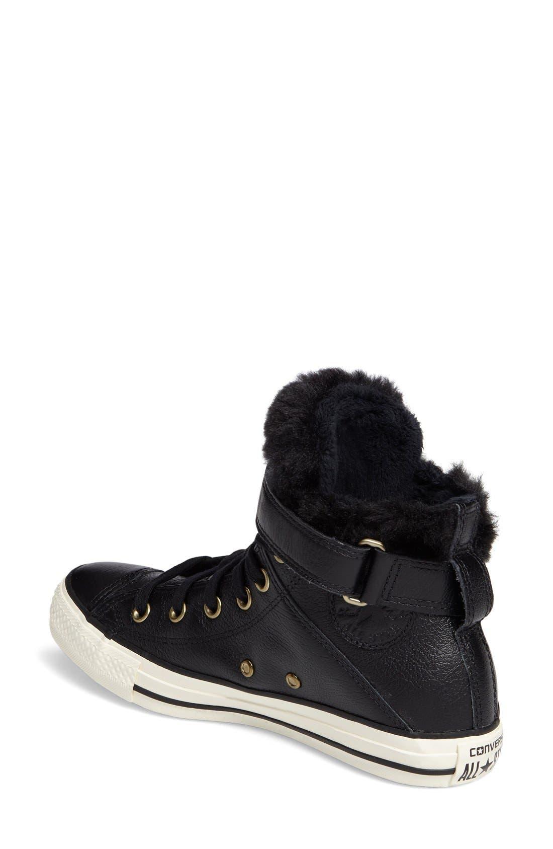 Alternate Image 2  - Converse Chuck Taylor® All Star® Faux Fur High Top Sneaker (Women)
