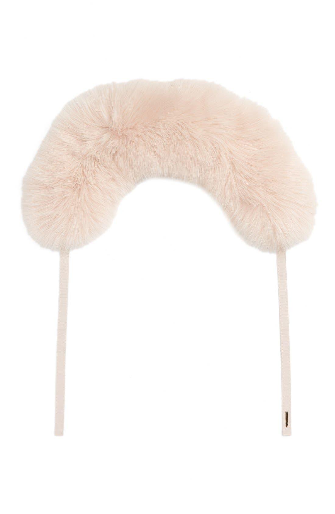 Burberry Genuine Fox Fur Collar