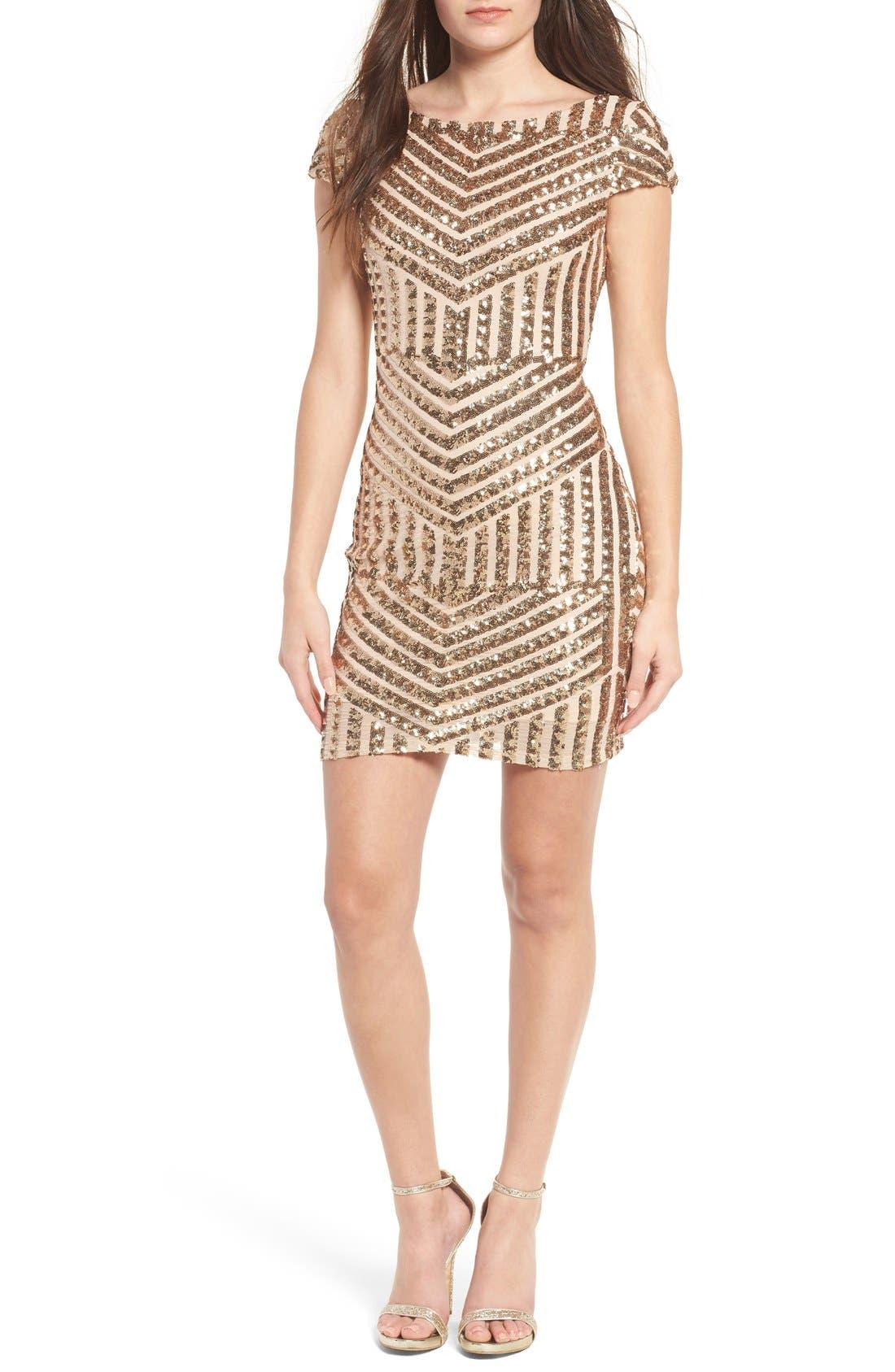 Alternate Image 1 Selected - TFNC Colette Sequin Body-Con Dress