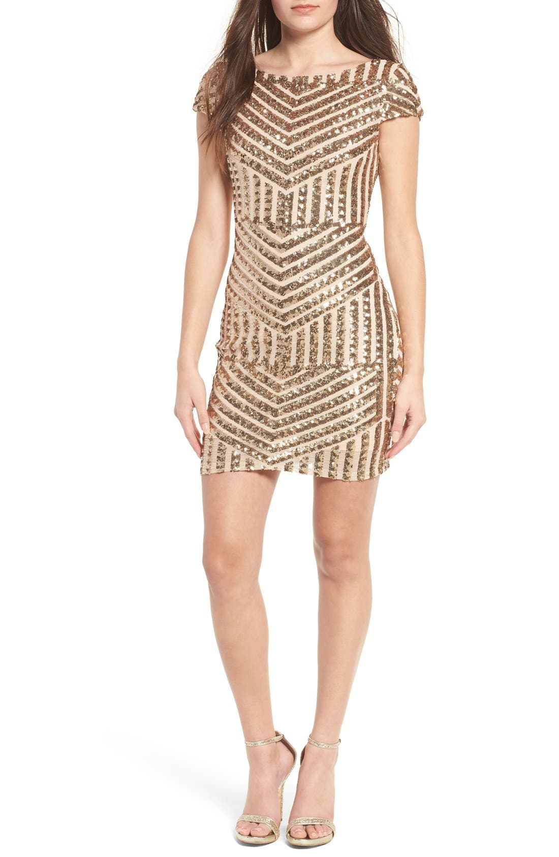 Main Image - TFNC Colette Sequin Body-Con Dress