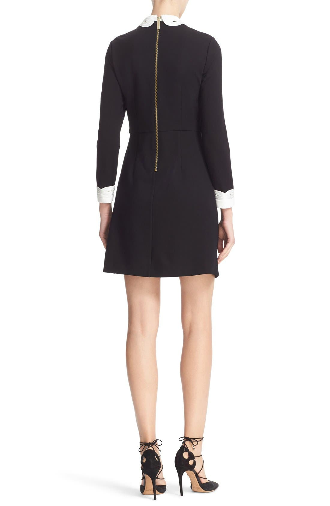 Alternate Image 2  - Ted Baker London Embroidered Collar Fit & Flare Dress