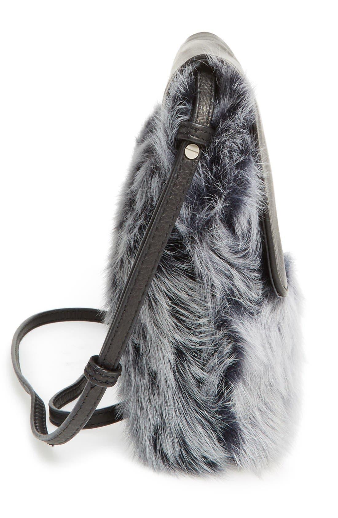 Alternate Image 3  - UGG® Vivienne Genuine Shearling Convertible Clutch