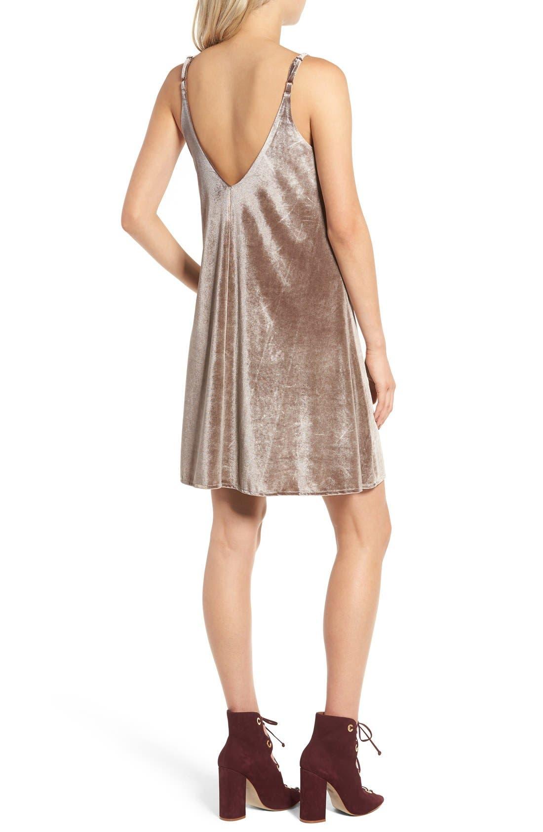 Alternate Image 2  - Ten Sixty Sherman Velvet Camisole Dress
