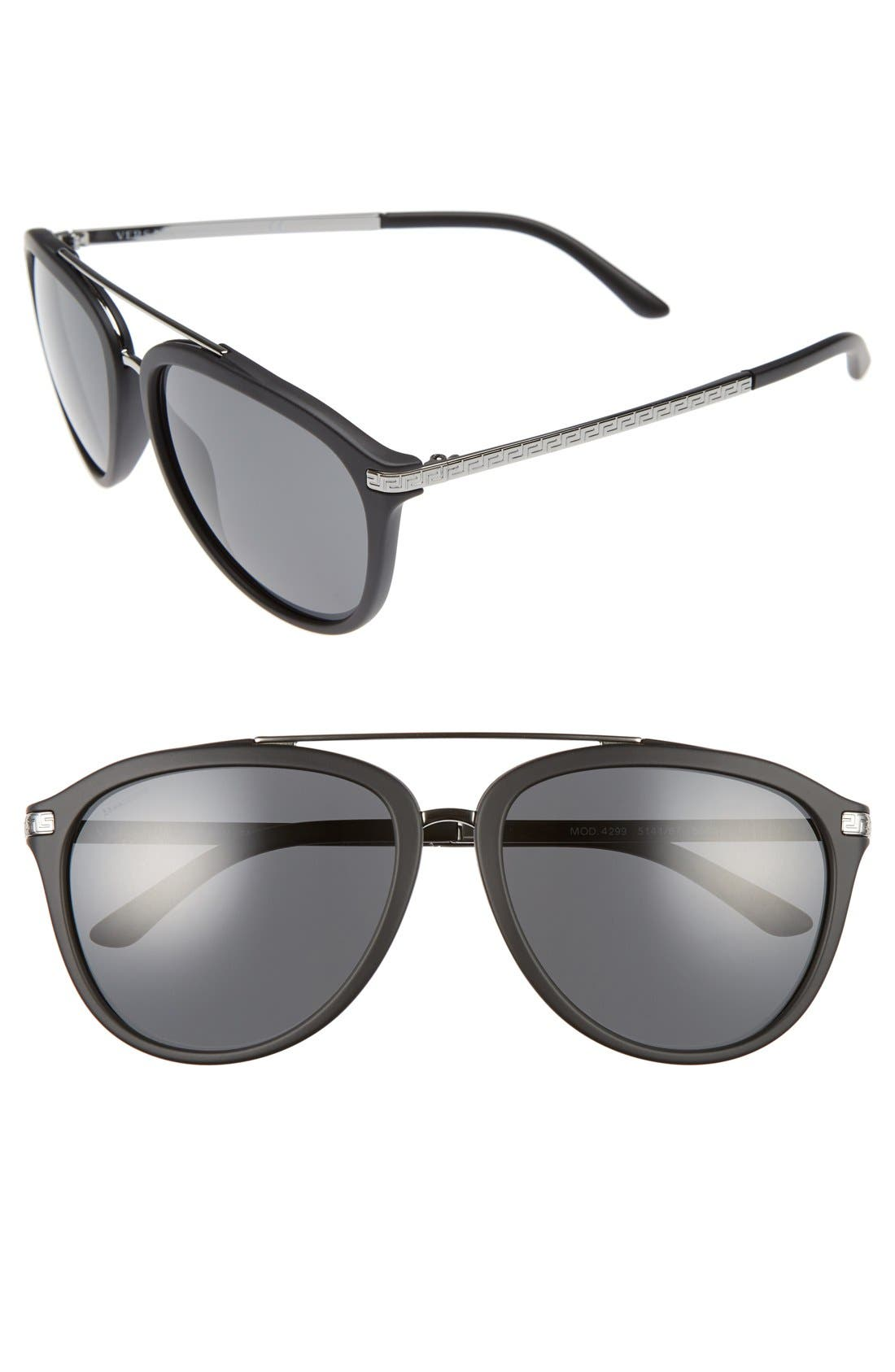 Versace 58mm Aviator Sunglasses