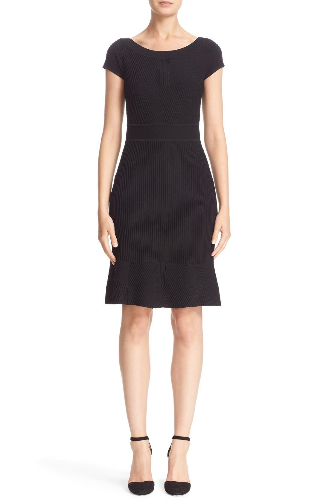 ARMANI COLLEZIONI Cross Piping Knit Dress