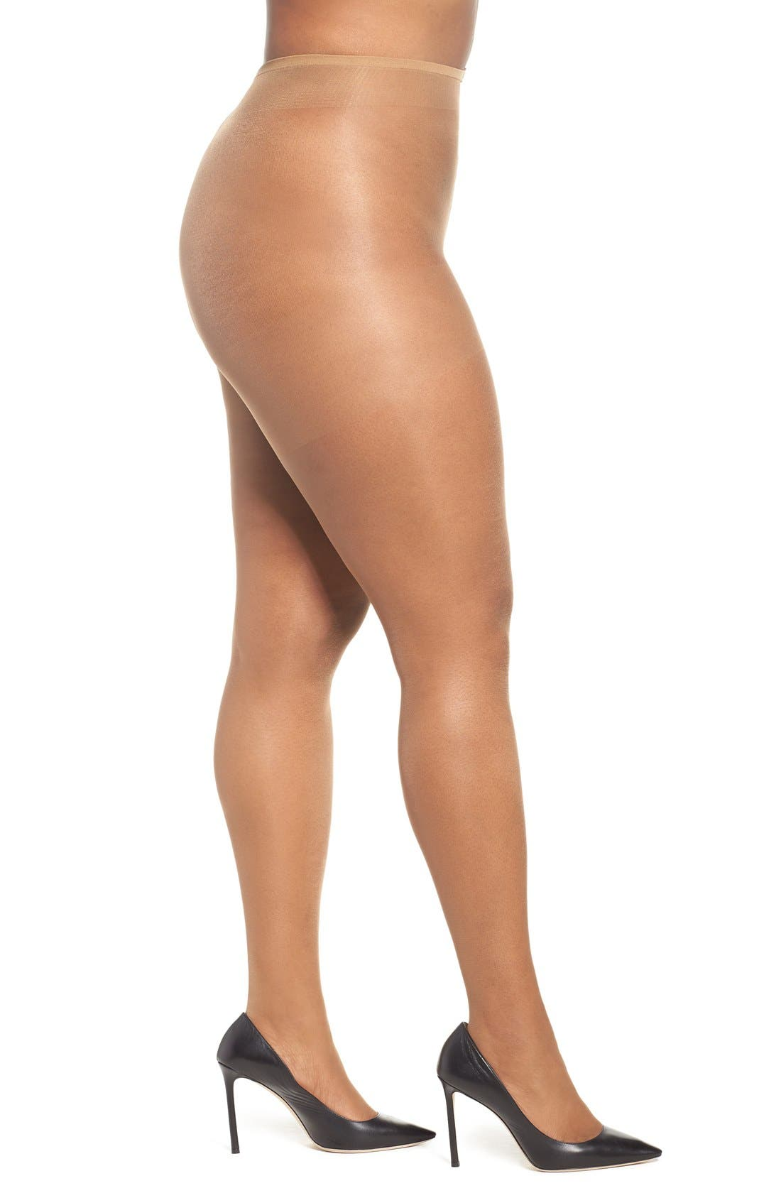 Alternate Image 1 Selected - Nubian Skin 'Curve' Pantyhose (Plus Size)