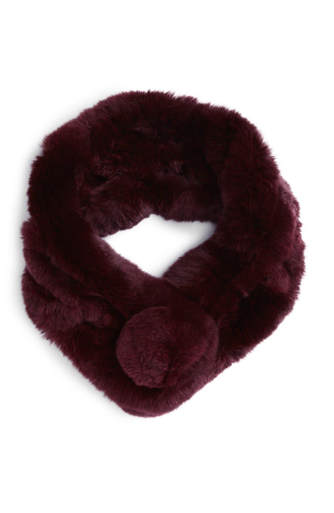 Alternate Image 1 Selected - Vincent Pradier Genuine Rabbit Fur Scarf