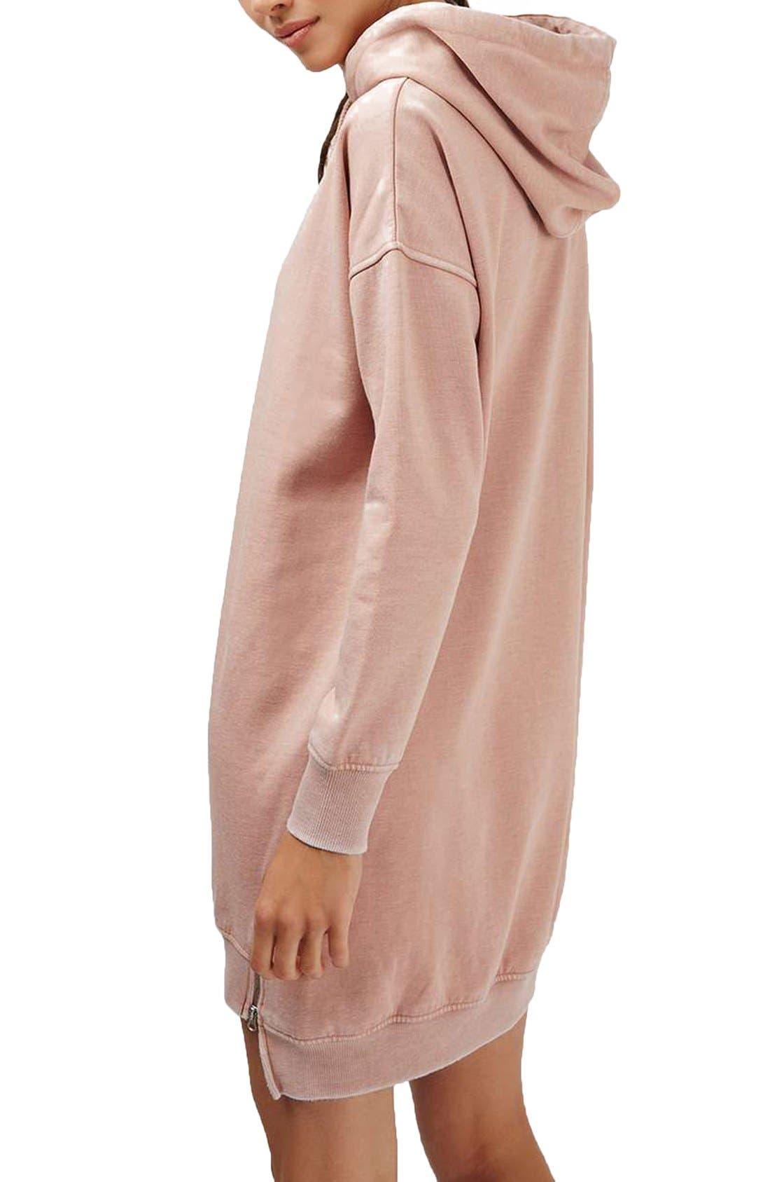 Alternate Image 3  - Topshop Hooded Sweatshirt Dress