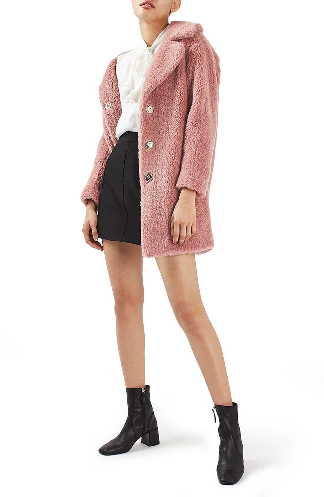 Alternate Image 2  - Topshop Faux Fur Coat