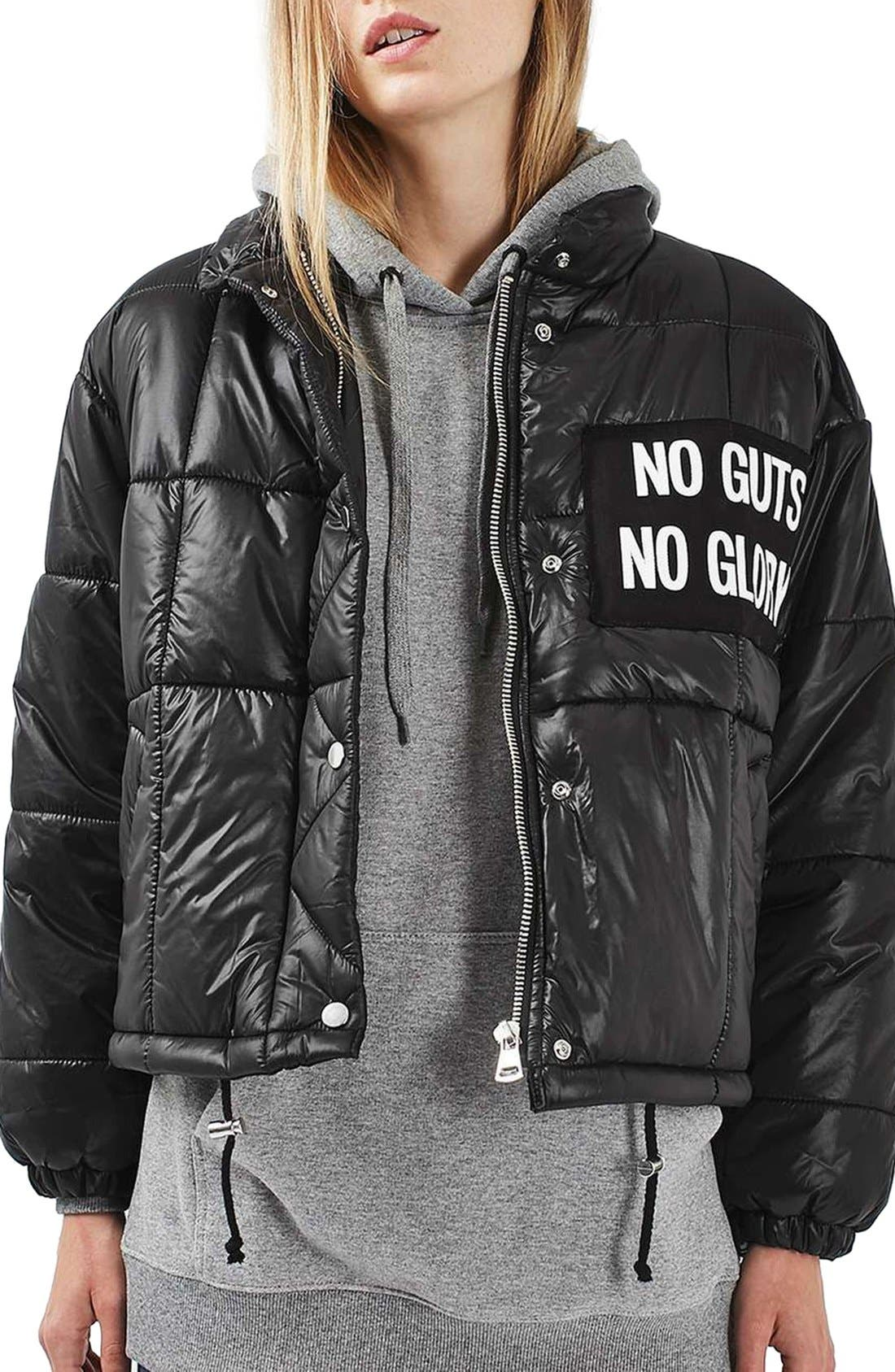 Alternate Image 1 Selected - Topshop Nina Puffer Jacket