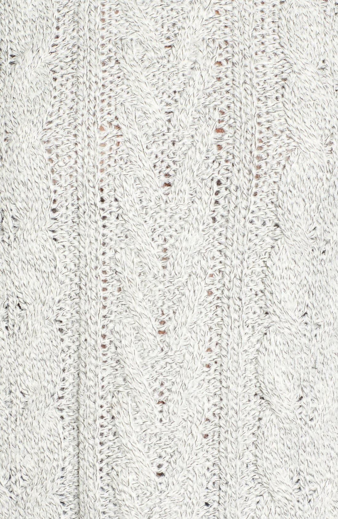 Alternate Image 5  - Love by Design Marled Cable Knit Pullover