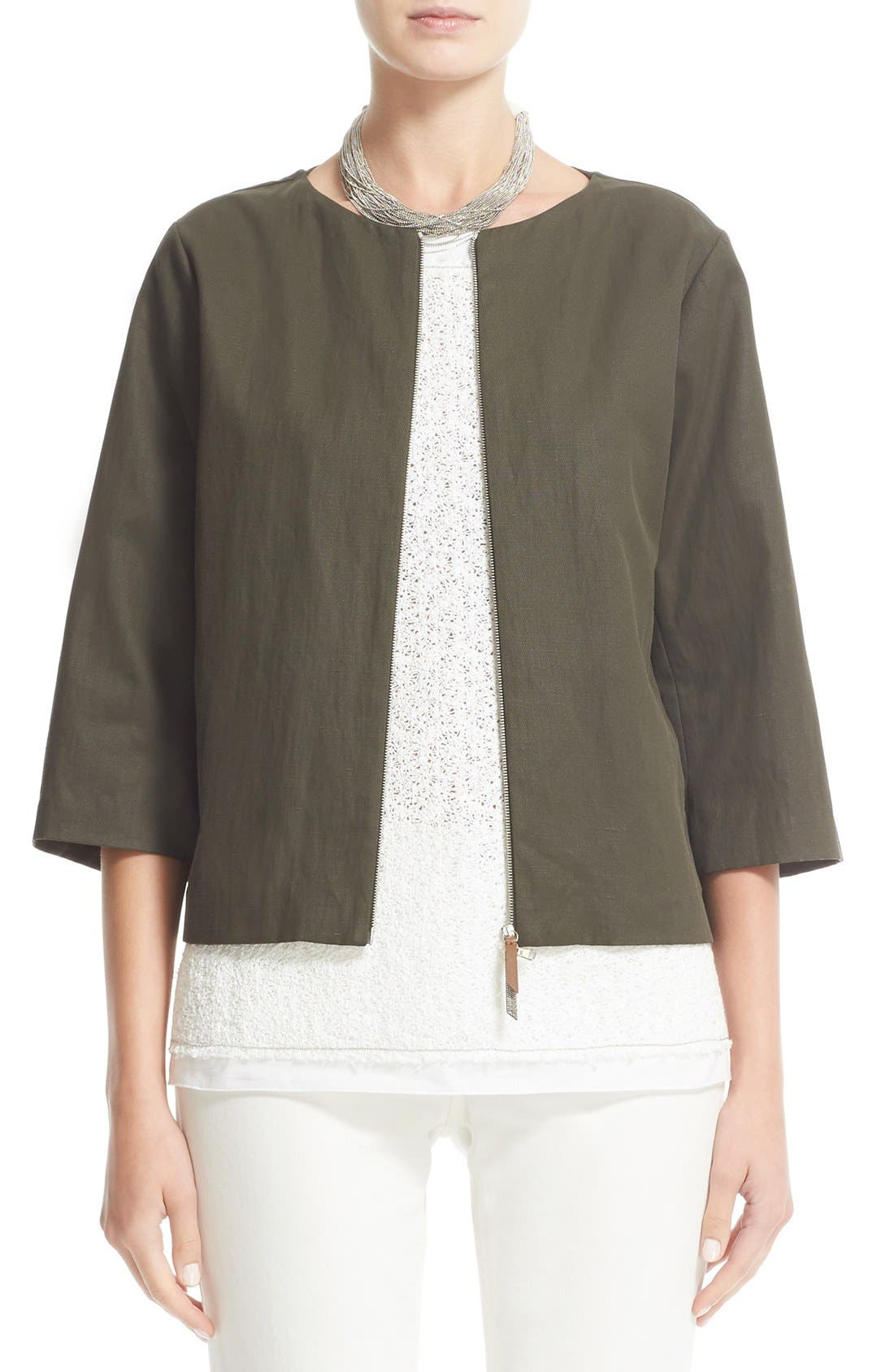 FABIANA FILIPPI Coated Cotton Blend Jacket
