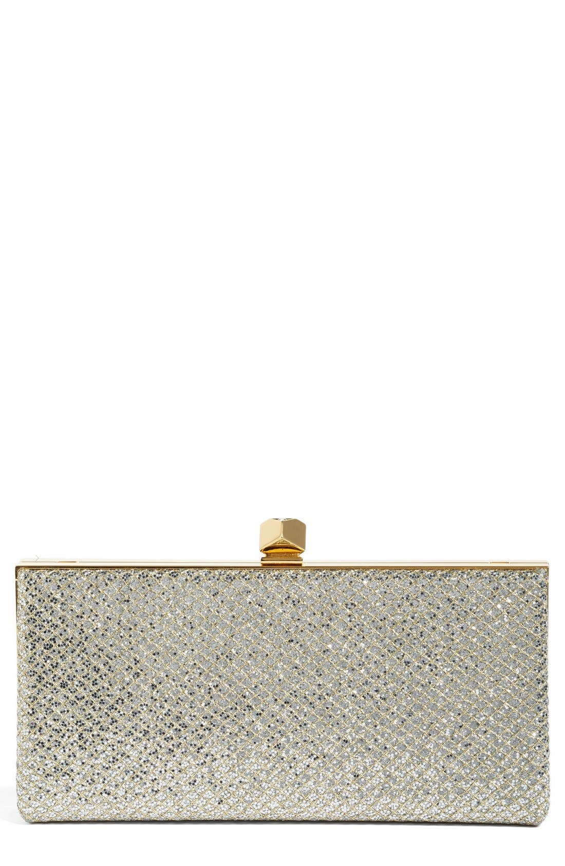 Alternate Image 1 Selected - Jimmy Choo Celeste Glitter Frame Clutch