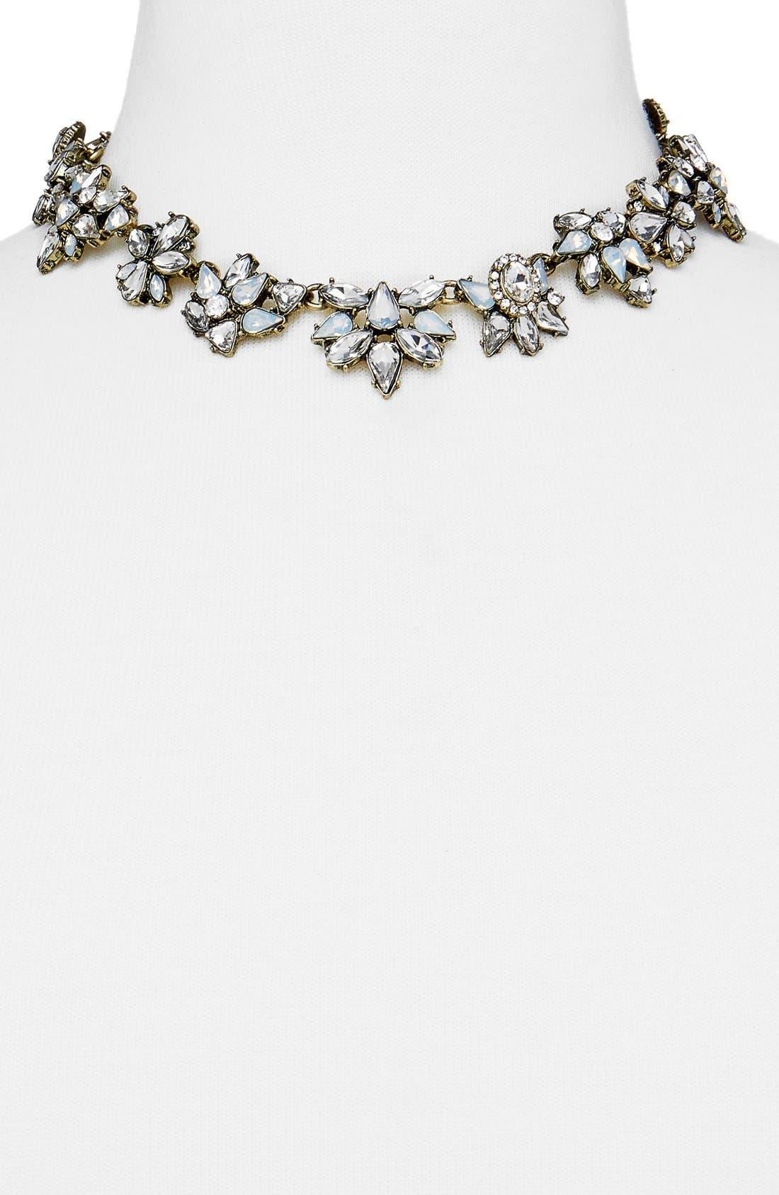 Alternate Image 2  - BaubleBar Araz Crystal Collar Necklace
